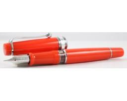 Aurora Limited Edition Optima Orange with Silver Trim, Flexible Fine Nib Fountain Pen