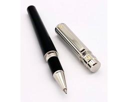 Cartier OP000116 Santos de Cartier Large Godrons Decor Metal Composite Palladium and Gold Finishes Roller Pen