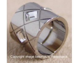 S.T. Dupont Ring D Link Crystal Quadrille
