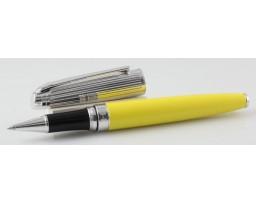 Caran d'Ache Leman Bicolour Yellow Silver Roller Ball Pen