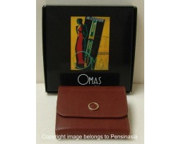 Omas Brown Leather Note-pad