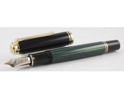Pelikan M1000 Green and Black Fountain Pen (New Logo)