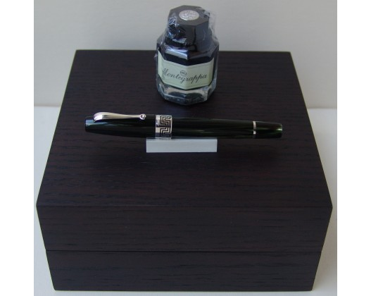 Montegrappa Extra 1930 Sterling Silver and Bamboo Black Fountain Pen