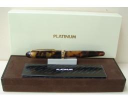 Platinum Celluloid Tortoise Fountain Pen