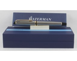 Waterman Expert III Stainless Steel with Gold Trim Roller Ball Pen