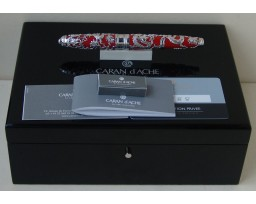Caran d'ache Limited Edition Dragon Pearl Silver Fountain Pen