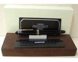 Platinum President Black Gold Trim Fountain Pen