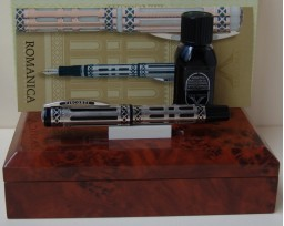 Visconti Limited Edition Romanica Silver and Black Enammels Fountain Pen