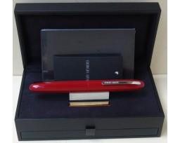 Giorgio Armani Montenapoleone Red with Chrome Trim Roller Ball Pen