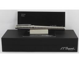 S T Dupont Olympio 451416M Guilloche Medium Palladium Fountain Pen