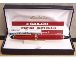 Sailor 1911 Standard Red with Gold Trim Fountain Pen