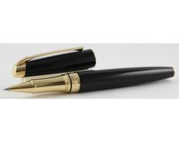 Caran d'Ache Leman Ebony Black with Gold Trim Roller Ball Pen