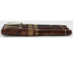 Omas Limited Edition 90th Anniversary Celluloid Gold Trim Fountain Pen Set