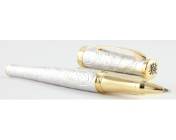 Cross Special Edition 2016 Sauvage Year of the Monkey Brushed Platinum Plated Roller Ball Pen