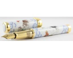 Sailor Arita Special Edition 400th Anniversary Koransha Somenishiki Yukennozu (Puppy Dogs) Gold Trim Fountain Pen