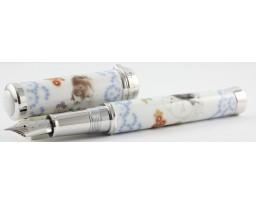 Sailor Arita Special Edition 400th Anniversary Koransha Somenishiki Yukennozu (Puppy Dog) Silver Trim Fountain Pen