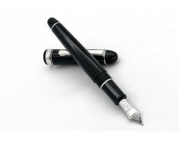 Platinum 3776 Century Black Diamond Translucent Rhodium Trim Fountain Pen