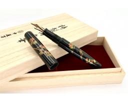 Nakaya Piccolo Long Maki-e Maple Leaves Fountain Pen