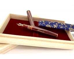 Nakaya Piccolo Long Nuno Kise Hon Kataji Toki-Tamenuri Fountain Pen
