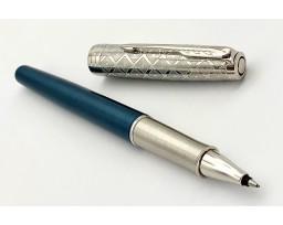 Parker Sonnet Premium Metal And Blue Lacquer Roller Ball Pen