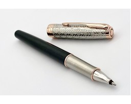 Parker Sonnet Premium Metal And Grey Lacquer with Rose Gold Trim Roller Ball Pen