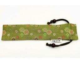 Nakaya Kyoto 'Nishijin-ori' textile Pen pouch for 1 pen Green