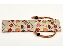 Nakaya Kyoto 'Nishijin-ori' textile Pen pouch for 1 pen White