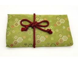 Nakaya Kyoto 'Nishijin-ori' textile Pen pouch for 5 pens Green