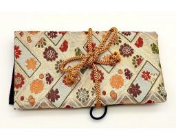 Nakaya Kyoto 'Nishijin-ori' textile Pen pouch for 5 pens White