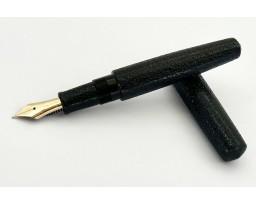 Nakaya Piccolo Cigar Ishime Kanshitsu Black Fountain Pen